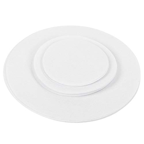 Felt Dish Mat, Dishes Protectors, Wear‑Resistant Anti‑Friction Non-Toxic Multiple Size for Home White(White, 24pcs)