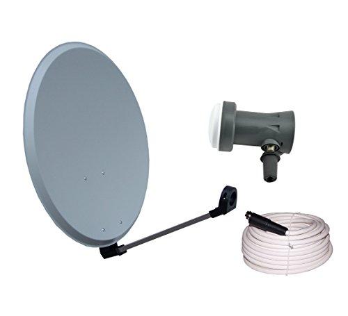 Vistron–Antena parabólica y 45cm Con Sharp LNB 20m Cable coaxial y 4conector