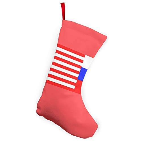 MoonStarDayUp Merry Christmas Stockings Socks Russian American Flags Xmas Decor, for Reindeer Tree Family Ornaments Holiday Santa Claus Party Decorations,5.5 X 7.5 X 10 Inches