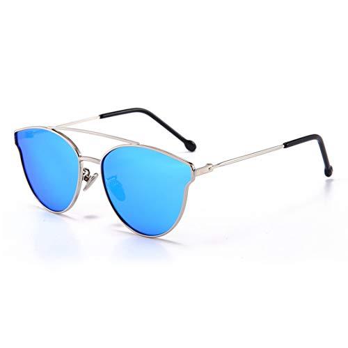 Gafas de sol, personalidad de la manera evitar el deslumbramiento ojos de gato de chicas lindas gafas de sol polarizadas con el marco de la caja del metal de protección UV Los niños de 3 a 12