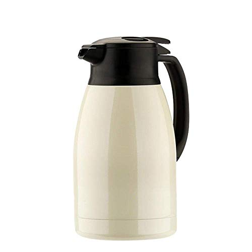 Thermos Thermos Bouilloire en acier inoxydable grande capacité des ménages Bouilloire Bouteille thermos blanc 1.5L-lait kyman (Color : Milky White)