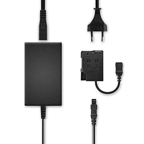 subtel Fuente alimentación compatible con Nikon D5600 D5500 D5300 D5200 D5100 D3500 D3400 D3300 D3200 D3100 Df CoolPix P7800 P7700 P7100 P7000 EH-5 EH-5a EH-5b EH-5c + EP-5A cable corriente Adaptador