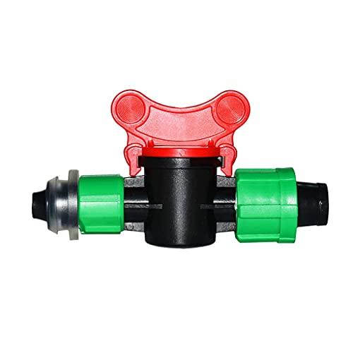 YUTRD ZCJUX Cinta de Goteo Válvula de irrigación Válvula de riego Válvula de Agua Garden Grúas Grúas Grúas de púas Doble Conector Tornillo 1pcs