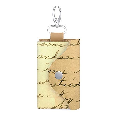 Nota manuscrita cuero llavero llavero titular de la tarjeta dinero cartera bolsa caso 6 llaves organizador bolsa