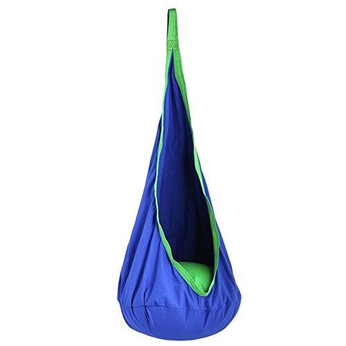 BLI Aufblasbare Hängematte Hängematte 3-10 Jahre alte Hängematte Schaukelsitz Innen Hängematte Sitz Pod (Marineblau)Wie abgebildet