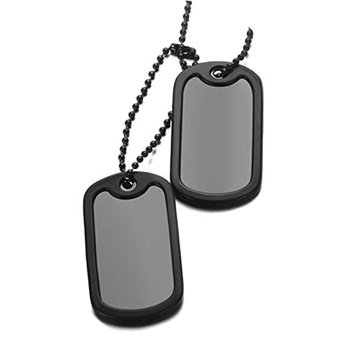 Personalizado de acero inoxidable perro ejército etiqueta personalizada grabado nombre ID foto colgantes collar cadena larga militar estilo joyería