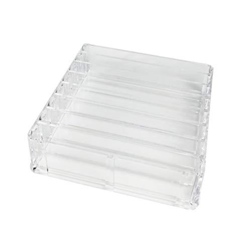 DOITOOL Transparenter Make-Up-Organizer 8 Steckplätze Acryl Kosmetikbox Lippenstifthalter Display...