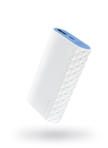 TP-LINK TL-PB10400 10400mAh powerbank, originele LG accu, 2 USB-uitgang5V/2A & 5V/1A. Externe batterij voor iPhones, iPads en Android-apparaten 5200 mAh. 5200 mAh blauw, wit