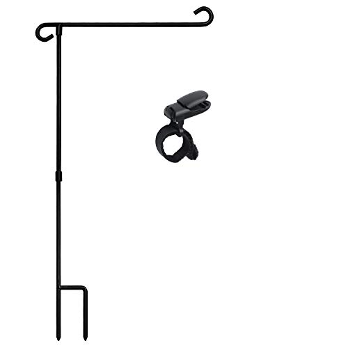 Garden flag stand,flag banner stands,decor pole stand,yard flag pole small, Banner Flagpole,Wrought Iron flag stand for flags with Anti-Wind Clip,flag pole bulk Without Flag