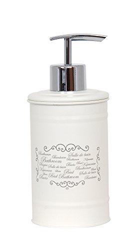 MSV 141994 dispensador de jabón Paris, Metal, Crema, 30 x 20 x 15 cm