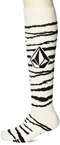 Volcom Men's Lodge Heavy Weight Snow Sock, WHITE TIGER, L/XL