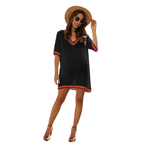 Vestido de playa de gasa con borla para traje de baño - - Talla Única