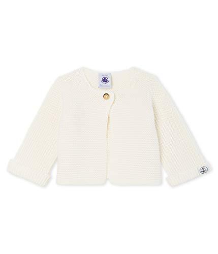 Petit Bateau Cardigan_4966305 Gilet, Blanc (Marshmallow 05), 68 (Taille Fabricant: 6M/67centimeters) Mixte bébé