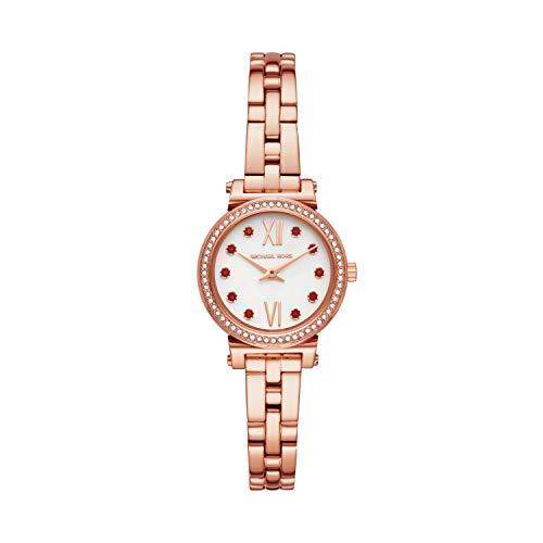 Michael Kors Women's Sofie Quartz Watch with Stainless Steel Strap, Rose Gold, 16 (Model: MK4465)