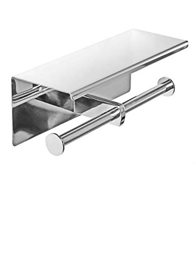 Top 10 best selling list for double roll toilet paper holder with storage shelf chrome