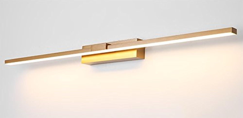 Badezimmer-Spiegel-vordere Lichter geführtes wasserdichtes Nebel-dreifarbiges helles Aluminium-Spiegel-Lichter (Farbe   Gold-17w70cm)