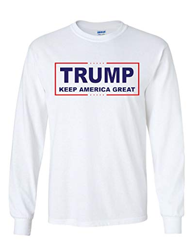 Trump Keep America Great Long Sleeve T-Shirt 2020 Election Republican POTUS Tee White M