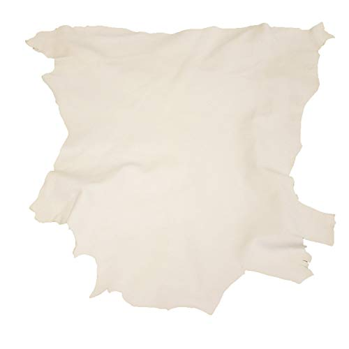 Glacier Wear Select Buckskin Leather - Natural White (9.00 to 9.75 sq ft)