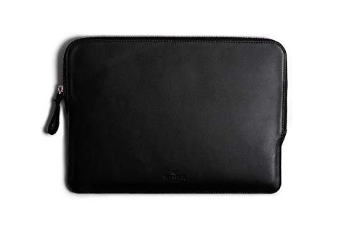 Macbook Leather Sleeve Folio Handmade Case and Wool Felt Cover No. 7 - Macbook Pro 13' (2016-2019)