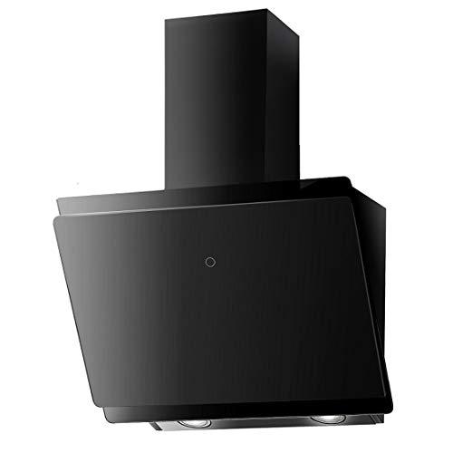 VLANO MIRA 600 BK / Kopffreie Dunstabzugshaube * EEK A+ * / 60 cm / schwarz Glas/ Touch Control / ECO LED / 47 dB (A) / Abluft / Umluft (60 cm)
