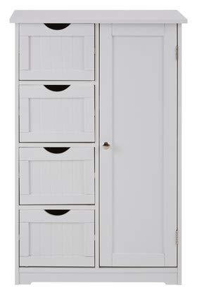 Premier Housewares Badezimmerschrank, Holz, weiß, Einheitsgröße