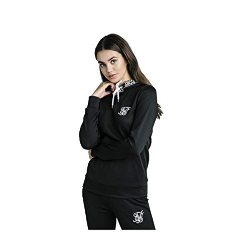 Sudadera Capucha Siksilk ssw1191 Color Negro para Mujer (XXS)