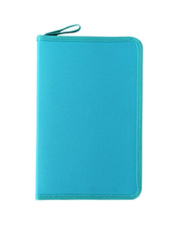 Gullor Fashion Fold Canvas Pencil Case, Blue, 36 Holes