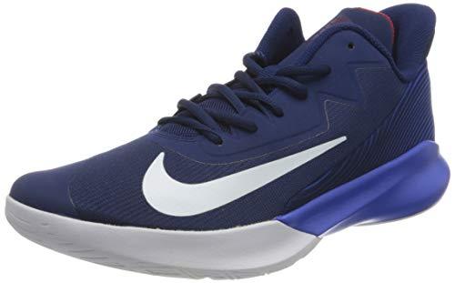 Nike Herren Precision Iv Basketballschuh, Blue Void/White-Racer Blue-Red, 43 EU