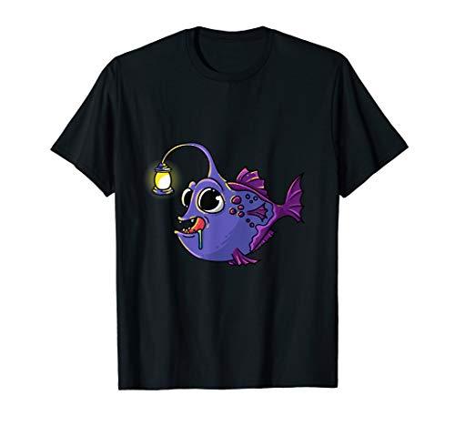 Tiefsee-Anglerfisch Angler Taucher Geschenk Laternenfisch T-Shirt