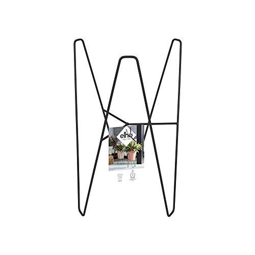 Elho Loft Urban Rahmen 30 - Lebhaft Schwarz - Draußen - L 24.9 x W 24.9 x H 38.6 cm