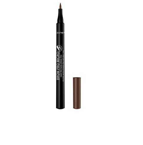 Rimmel London Brow Pro Micro 24HR Precision-Stroke Pen, Microfilling Felt Tip, Soft Brown, 1 ml