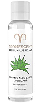Promescent Premium Organic Aloe Lube for Sex with Natural Ingredients Personal Lubricant for Women Men & Couples Toy/Vibrator Safe Condom Compatible Paraben Free Non-Sticky Long-Lasting  4 oz