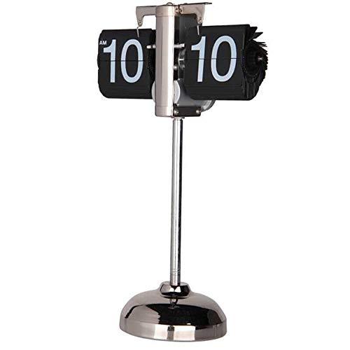 TUDUDU Retro Auto Flip Clock Vintage Página Digital Reloj De Mesa Flip Flap Abajo Relojes Ajustables Reloj De Escritorio De Stand