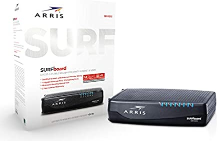 ARRIS Surfboard (32x8) DOCSIS 3.0 Cable Modem for Xfinity Internet & Voice (Model SBV3202)