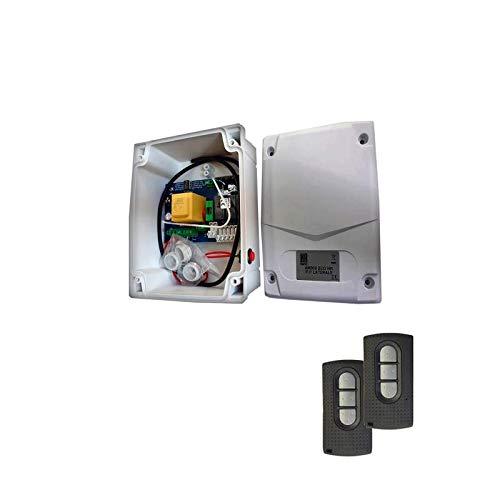 Kit ALLMATIC AMECO900 PUL cuadro de maniobra para persiana con pulsador + 2 mandos de garaje ALLMATIC TECH3 con codificación HR MATIC