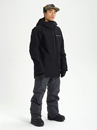 Burton Mens Gore-Tex Radial Jacket Slim, True Black/Castlerock/Flame Scarlet, X-Large