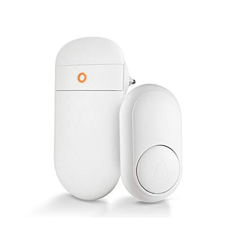 Timbre inalámbrico Auto Generación de energía 52 Canciones Seguridad para el hogar Inteligente Campanas de Bienvenida Timbre de Puerta Luz LED con botón (Color : 1receiver 1doorbell)