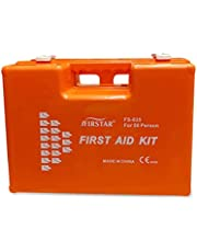AAA Safe First Aid Kit, ABS Plastic, Easy to Clean, Dustproof, FS-035 - Orange