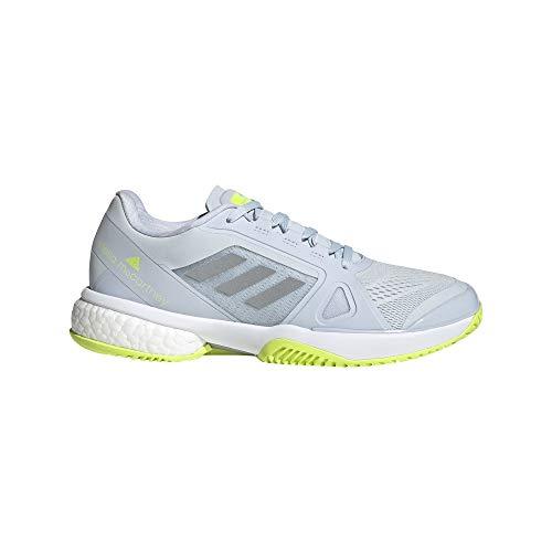 adidas Zapatilla ASMC Tennis, Tenis Mujer, HALO Blue/Silver Met/Solar Yel, 38 EU