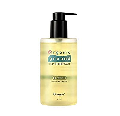 Top To Toe Wash, pH 5.5 Acidic Mild and Gentle Shampoo&Bath All-in-one, Tear Free, Dermatest Excellent grade, Plant-derived Vegan Clean Beauty with 7types Organic oil&Shea butter (10.1 fl oz.300ml)