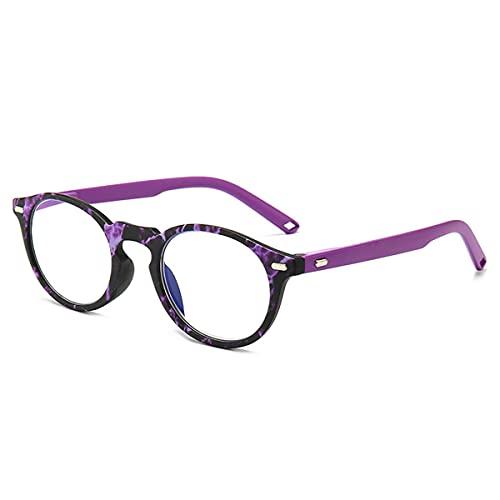 LGQ Nuevas Gafas de Lectura con luz Anti-Azul, visión HD/Anti-Fatiga/Alta transmisión de luz, Marcos de Moda Multicolor dioptrías +1,00 a +3,00,Púrpura,+1.50