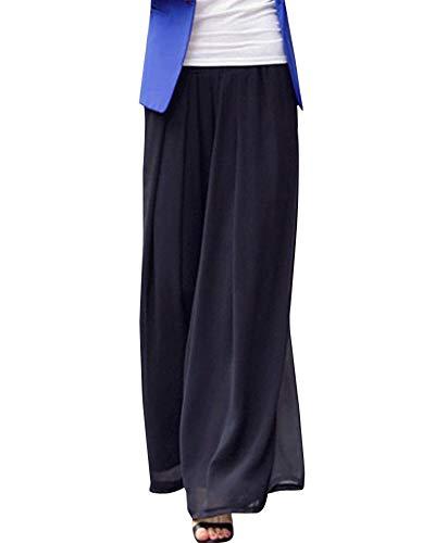Laisla fashion Pantalones Elegantes De Gasa Larga Clásico para Mujer Marlene Pantalones Falda Elástica Cintura Pantalones Harén Pantalones Aladdin Moda 2020 Ropa De Mujer