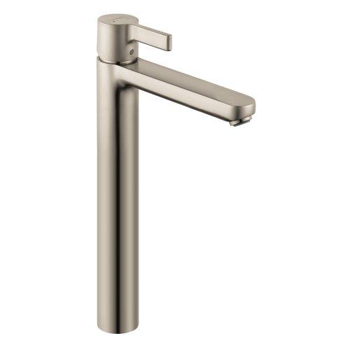 hansgrohe Metris S  Modern 1-Handle  13-inch Tall Bathroom Sink Faucet in Brushed Nickel, 31020821