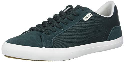 Lacoste Men's Lerond Sneaker, Dark Green/Off White, 9.5 Medium US