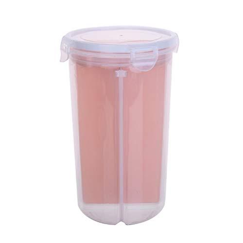 Grano contenedor de almacenamiento giratorios transparentes latas selladas Alimentos Clasificación Tanque / Multi grano caja de almacenaje, de plástico transparente caja de almacenaje, almacenaje del