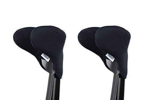 KMINA - Funda muletas codo (Pack x2 uds.), Accesorios muletas, Almohadilla para muletas, Muletas adulto regulables aluminio, Muletas adulto acolchadas 🔥