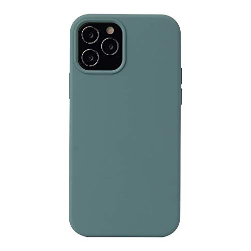 Dmtrab para Funda Protectora a Prueba de Golpes de Silicona líquida de Color sólido for iPhone 12 Pro MAX (Color : Pine Green)