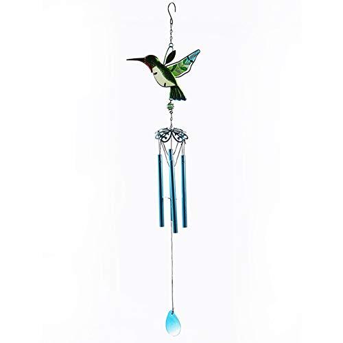 Colibrí, campanas de viento para exteriores, adornos colgantes de campana de viento,...