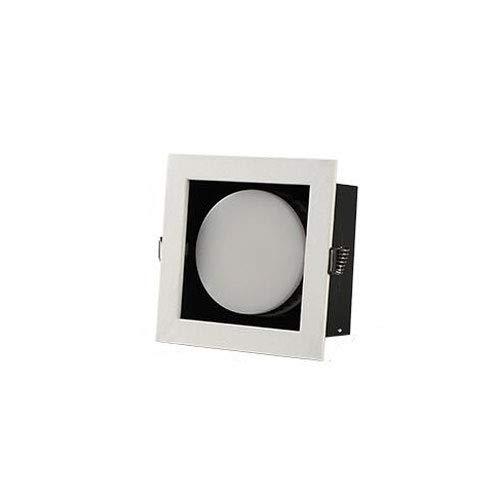 HSCW Downlight LED 9W empotrable de techo 900LM, corte Φ10cm, focos cuadrados 3000K cálido / 4000K neutro / 6000K blanco, downlights ajustables para dormitorios, sala de estar, baño