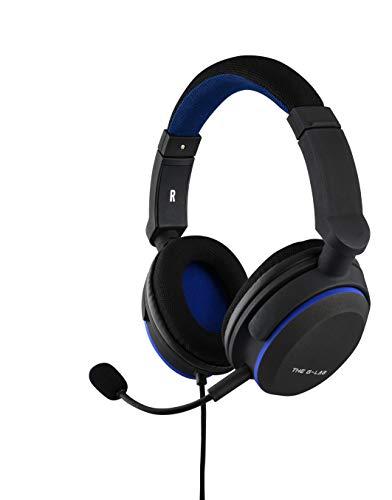 THE G-LAB Korp Oxygen P Casque Gaming PS4 - Micro Casque Gamer avec Basses Renforcées, Microphone Détachable, Confortable et Léger - Compatible PS4 PC Xbox One Switch Smartphone (Noir)